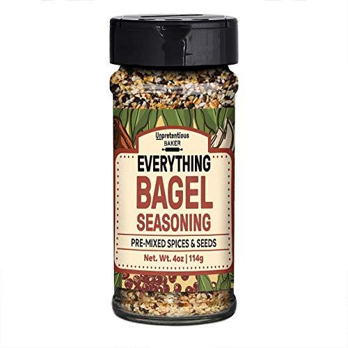 (Everything Bagel Seasoning, 4 oz. by Unpretentious Baker, Add Texture & Flavor to Any Recipe, Mix of Sesame Seeds, Poppy Seeds, Garlic, Onion & Salt, Convenient Shaker Bottle)