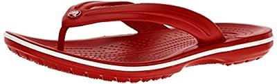 Crocs Crocband Flip Flop, Pepper/White, 14 US Women / 12 US Men