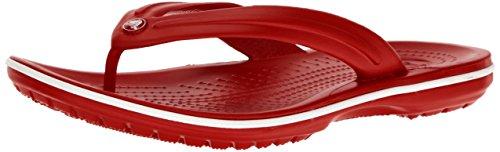 (crocs Unisex Crocband Flip Flop, Pepper/White,6 US Men / 8 US Women)