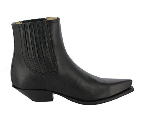 Schwarz Sendra 1692 Negro Negro Pull Boots Oil und Lederstiefelette für Westernstiefelette Damen Herren CavBwqCnZx