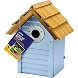 Gardman BA01681 Country Cottage Nest Box - Blue - 9.5'' H x 7'' W x 6'' L (GardmanBA01681 )