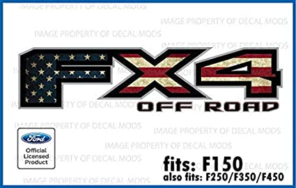 Amazon Com Decal Mods Fx4 Offroad American Flag Decals Stickers For Ford F150 2015 2020 Fwflag Set Of 2 Arts Crafts Sewing