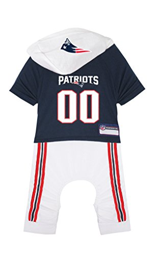 (NFL New England Patriots Pet Onesie, Size Medium. Cutest Pet Outfit for Any Pet, Any Occasion!)