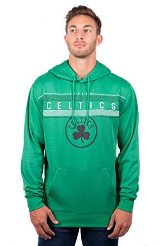NBA Boston Celtics Men's Fleece Hoodie Pullover Sweatshirt Poly Midtown, XX-Large, Kelly Green