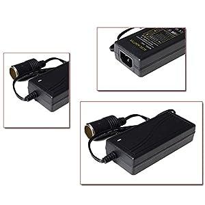 8 Amp 100-240V AC to 12V DC Home Wall Power Adapter Converter, 96W 12 volt DC Power Converter Car Cigarette Lighter Socket Power Supply