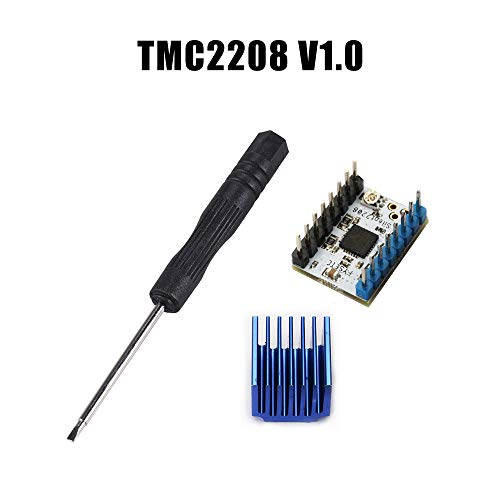 Entweg Driver Module 1pc TMC2208 V1.2 Stepper Motor Mute Driver Module with Heat Sink Replace TMC2100 for 3D Printer Parts ()