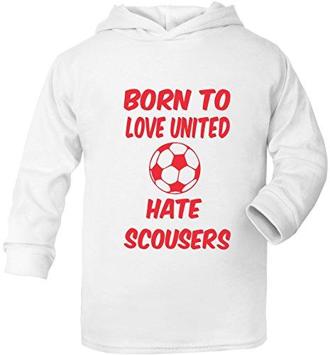 Toon Hoody - Print4u Love Toon Hate Mackems Newcastle Age 1-2 years White