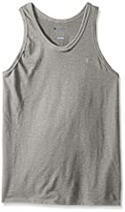 Classic cotton jersey tank is ready to hit the court.