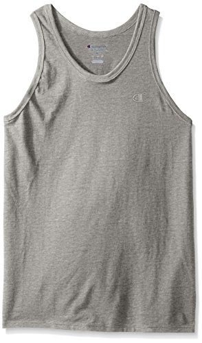 Champion Men's Classic Jersey Ringer Tank Top, Oxford Gray, 2XL by Champion (Image #1)