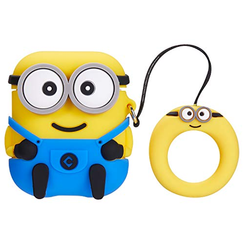Jocci for Airpods 1&2 Case,Cute Funny Cartoon Character Soft Silicone Airpod Cover,Kawaii Fun Cool Keychain Design Skin,Fashion Animal Designer Cases for Girls Kids Teens Boys Air pods (3D Two Eye)