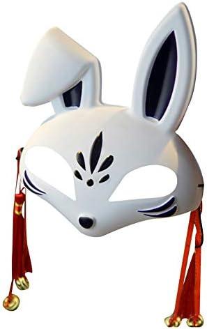 Máscara de Halloween para Cosplay, Conejo, Mitad Cara, Pintada a ...