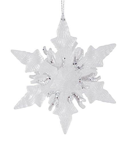 Seashell Snowflake Glitter Hanging Christmas Ornament (Glitter Seashells)