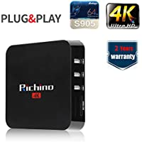 Richino Q8 Pro Android 5.1 1080P/4K Smart TV Box/Streaming Media Player with Amlogic S905 Quad-core 64-bit Cortex-A53 Chip 1GB RAM+8GB eMMC flash,Wifi,H.265