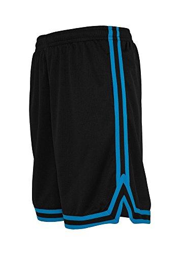 Urban Classics Stripes Mesh Short in cgrcgrwht in Größe: XL + original Bandana gratis