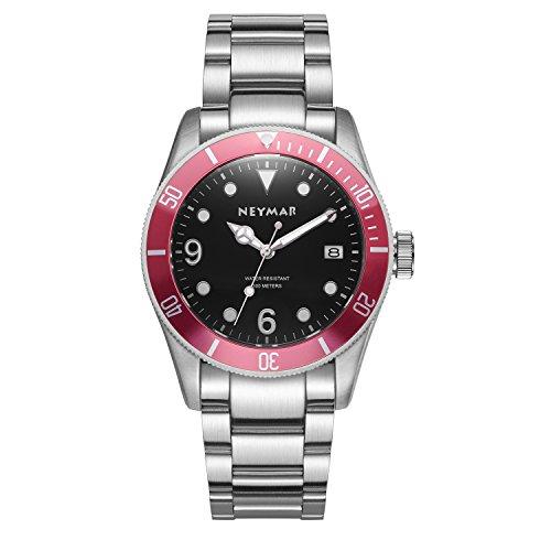 NEYMAR 41.5mm Men's Automatic Watch 300m Diver Watch 200m Stainless Steel Watch...