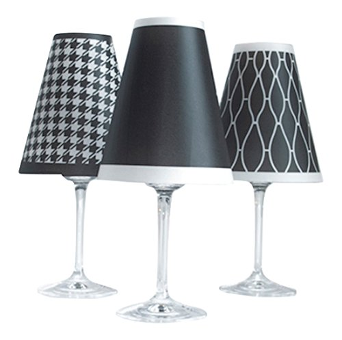 di Potter WS197 Classic Paper Red Wine Glass Shade, Black (Pack of 6) by di Potter