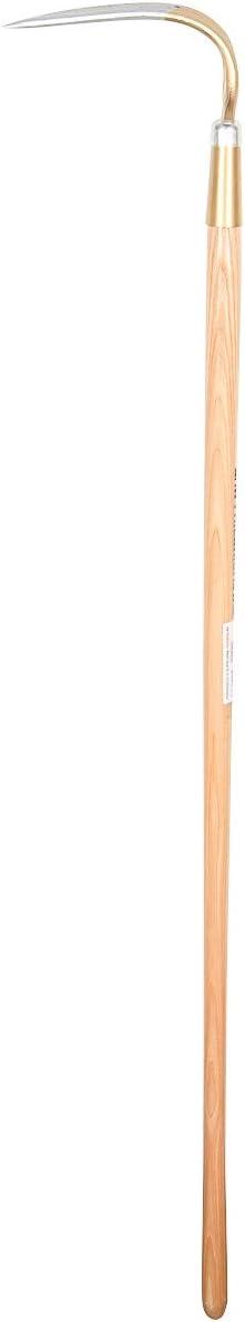 SHW-FIRE 59008 Kartoffelhacke Hacke Gartenhacke 4 Zinken Rund Stahl Handgeschmiedet mit Holzstiel Esche 135 cm
