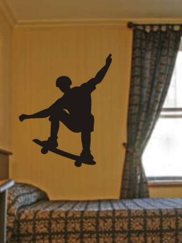 Skateboarder Decal Sticker Skateboard Wall Mural X Games Boy Teen ()