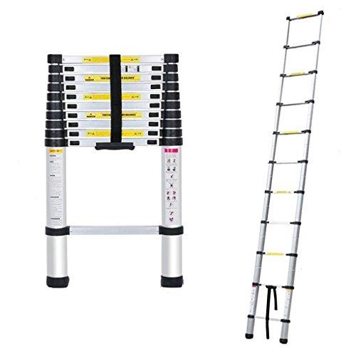 Price comparison product image Belovedkai 10.5 FT Aluminium Telescopic Telescoping Ladder 11 Steps Ladder Extension Steps Lightweight