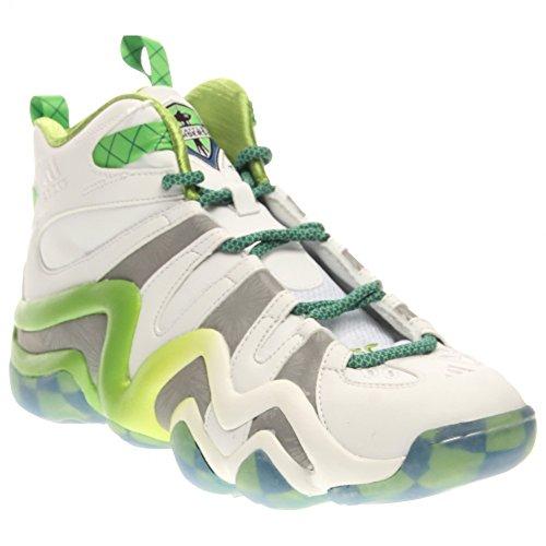 Adidas Performance loco 8 zapatillas de baloncesto, claro Onix, 6,5 M con nosotros White/Silver Metal/Black