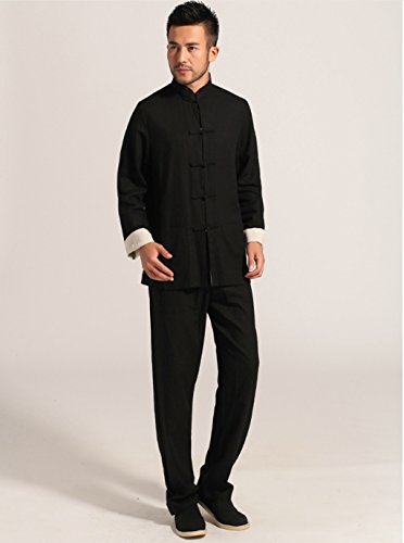 Cotton-flax Tang Suits Double-sided Wear Retro Jackets mens shirts Business Jackets Full Dress by Double-sided Wear Tang Suit (Image #6)