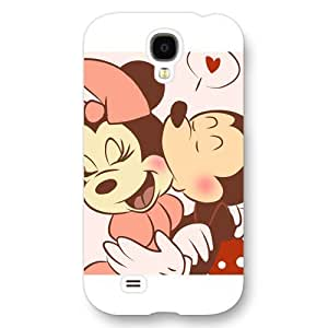 Customized White Hard Plastic Disney Cartoon Mickey Mouse Samsung Galaxy S4 Case