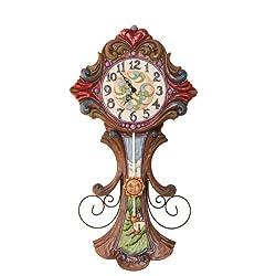 Jim Shore Heartwood Creek Grandfather Clock Masterpiece, Multi-Colour