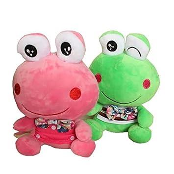 """2 Paquetes 8 """"SMILEY cuento rana príncipe de peluche Animal de peluche juguetes bebé"""