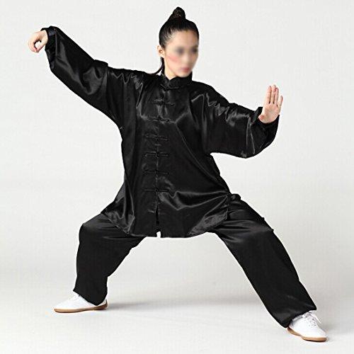 Andux Chinese Traditional Tai Chi Uniforms Kung Fu Clothing Unisex SS-TJF01 Black (S)