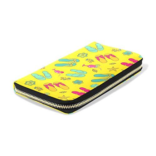 Leather Clutch for Wallets Purse Shoes PU Women Ladies TIZORAX Long Summer Zipper Girl Starfish Wallet Y8xg87I