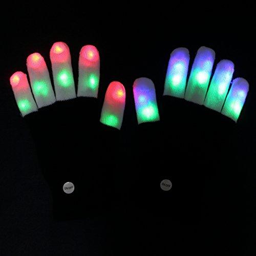 amazer kids light gloves kid children finger light flashing led warm gloves with lights for. Black Bedroom Furniture Sets. Home Design Ideas