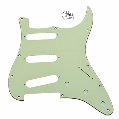 Dopro Mint Green 11 Hole Strat Style Guitar Pickguard Bridge Reversed for Fender Jimi Hendrix ()