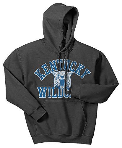 (Elite Fan Shop Kentucky Wildcats Hooded Sweatshirt Vintage Charcoal - L )