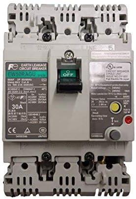 3 pole Fuji EW50RAGU-3P030 Earth Leakage Circuit Breaker 30 A 50 AF
