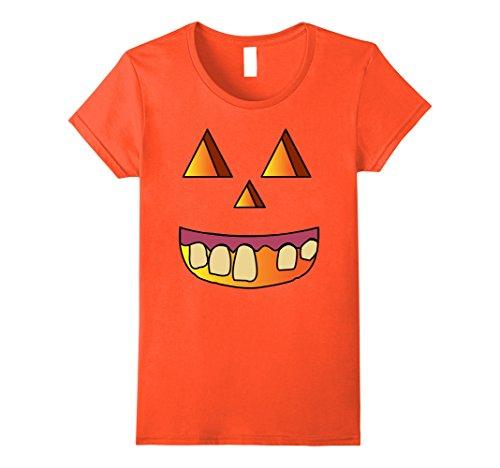 Womens Jack O Lantern Pumpkin Halloween Costume Hillbilly T Shirt Large (Hillbilly Halloween Costumes Female)