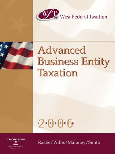 West Federal Taxation 2006: Advanced Business Entities PDF