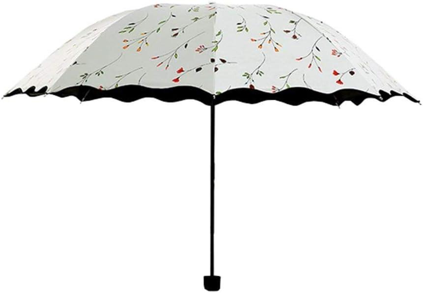 Color : Blue Yeer Folding Travel Umbrella Anti UV Rain Sun Umbrella Lightweight Windproof Parasol Umbrella Candy Color Sun Umbrella