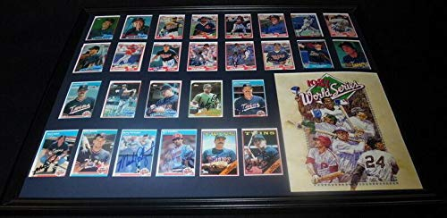 1987 World Series Teams - 1987 Minnesota Twins World Series Champs Team Signed Framed 18x24 Photo Display - Autographed MLB Photos