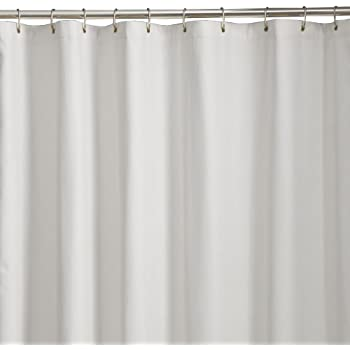 Maytex Soft Microfiber Water Repellent Fabric Shower Liner Or Curtain White
