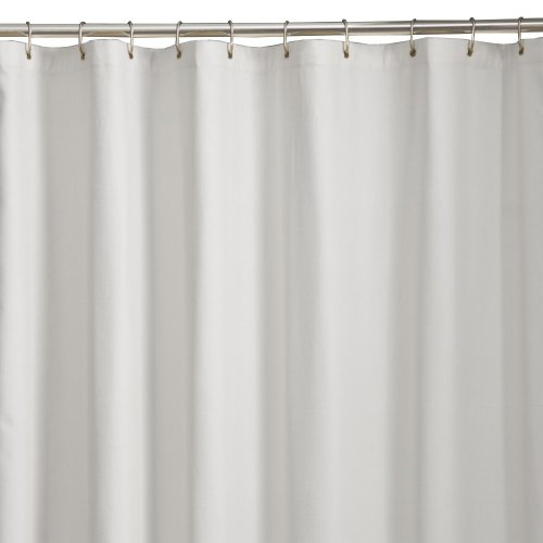 Mills Microfiber Fabric Shower Curtain Liner, 70in x 72in, White