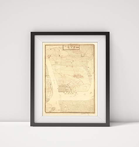 1780 Map Title: Map of The Siege of Charles Town in South Carolina Under Command of His Excellence S (Pottery Barn South Carolina)