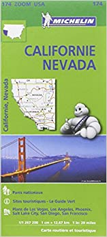 Carte Californie - Névada Michelin
