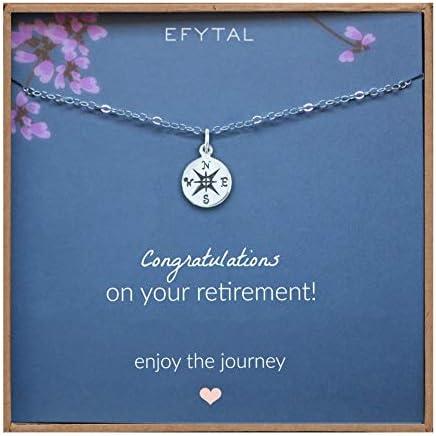 EFYTAL Retirement Compass Necklace Sterling product image