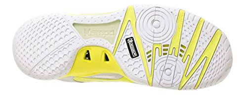 Kempa Wing Lite Caution Zapatillas de Balonmano, Unisex Adulto, Amarillo (Flour) / Negro (Antracita), 6