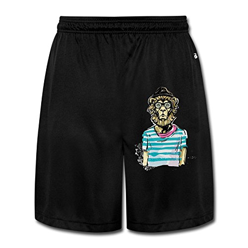 [Makeup Lion Men's Short Pants Yoga Sweatpants Performance Shorts Workout Sweatpants Gym Sweatpants L] (Lamb Costume Makeup)