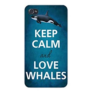 Special Design iPhone Custom Case 5 / 5s White Plastic Snap on - Keep Calm and Love Whales Killer Orca At F5588 Cases