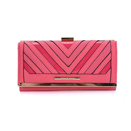 Purses Bag Holder Sally Floral Young Card Gifts Retro Women Fushia sy1523 Wallets Butterfly Lady Buckle Pattern xFwIFqP7