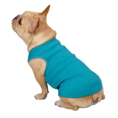 Casual Canine Cotton Basic Ribbed Dog Tank Top, Medium, 16-Inch, Orchard Pink