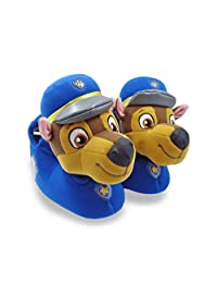 PAW Patrol Chase Boys Character 3D Plush Slippers Blue