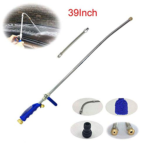Buyplus High Pressure Hydro Jet Wand - 39'' Long Extendable Garden Sprayer Power Washer Attachment Water Hose Nozzle Car Washer, Flexible Glass Cleaning Tool Window Water Cleaner ()